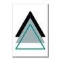 Placa Decorativa Geométrico Triangulo Cinza