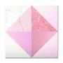 Placa Decorativa Geométrico Triângulos Rose