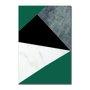 Placa Decorativa Geométrico Verde Escuro