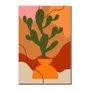 Placa Decorativa Silhueta Cactus Verde