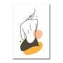 Placa Decorativa Silhueta Mulher De Costa Com Cores