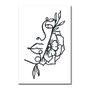Placa Decorativa Silhueta Perfil Com Flores