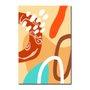 Placa Decorativa Silhueta Tons De Marrom