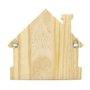 Porta Chaves de Madeira Pinus Clear Foco Força e Fé