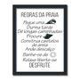 Quadro Decorativo  Coleção Mar Regras Do Mar...