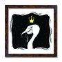 Quadro Decorativo Flamingo quer ser Rei