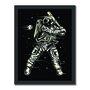 Quadro Decorativo Geek e Nerd Astronauta Jogador de Beisebal - Baseball