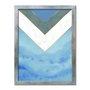 Quadro Decorativo Geométrico Azul