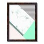 Quadro Decorativo Geométrico Branco Marmore