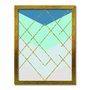Quadro Decorativo Geométrico Dourado Com Brilho