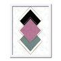Quadro Decorativo Geométrico Losango Rose