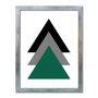 Quadro Decorativo Geométrico Tons Escuro De Triângulo