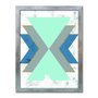 Quadro Decorativo Geométrico Triângulo Azul
