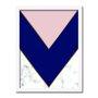 Quadro Decorativo Geométrico Triângulo Azul Escuro