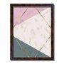 Quadro Decorativo Geométrico Triângulo Bege