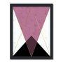 Quadro Decorativo Geométrico Triângulo Preto
