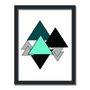 Quadro Decorativo Geométrico Triangulos