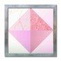 Quadro Decorativo Geométrico Triângulos Rose