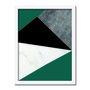 Quadro Decorativo Geométrico Verde Escuro