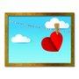 Quadro Decorativo Lavanderia Coração Vermelho No Varal
