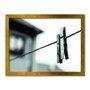 Quadro Decorativo Lavanderia prendedor De Roupa Preto E Branco