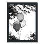 Quadro Decorativo Preto e Branco Balões em Parque