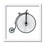 Quadro Decorativo Preto e Branco Bicicleta Vintage de Circo
