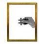 Quadro Decorativo Preto e Branco Mão com Peça de Quebra Cabeça Encaixe 2