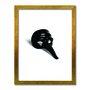 Quadro Decorativo Preto e Branco Máscara de Carnaval Vintage