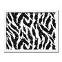 Quadro Decorativo Preto e Branco Pattern Pele de Animal