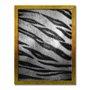 Quadro Decorativo Preto e Branco Pele de Tigre