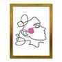 Quadro Decorativo Silhueta Circulo Rosa