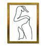 Quadro Decorativo Silhueta Contorno Corpo Feminino