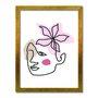 Quadro Decorativo Silhueta Flor Rosa