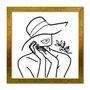Quadro Decorativo Silhueta Folhas No Ombro