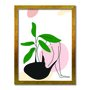 Quadro Decorativo Silhueta Folhas Verdes