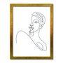 Quadro Decorativo Silhueta Meia Face