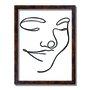 Quadro Decorativo Silhueta Sorriso