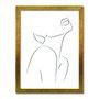 Quadro Decorativo Silhueta Traços Feminino Preto e Branco
