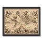 Quadro Decorativo Vintage Mapa do Mundo