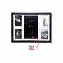 Quadro Painel de Parede para 4 fotos 10x15cm e Blackboard Para Escrever com Giz