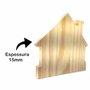 Tábua De Pinus Clear Recortada Para Porta Chaves e Placas Decorativas