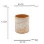 Vaso de Cerâmica Terracota Maya Geométrico  - URBAN